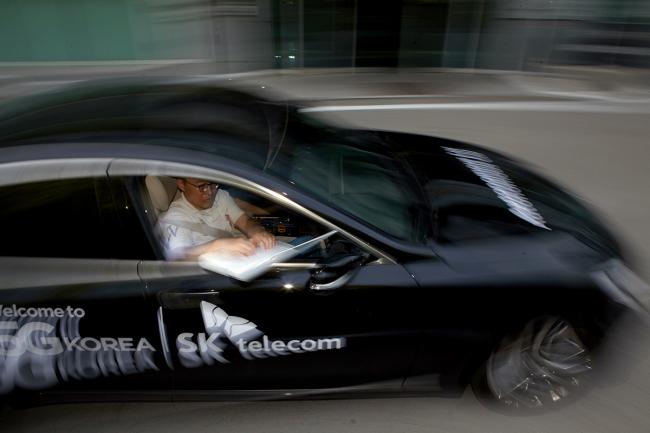 SK Telecom tests self-driving cars on public roads. (SK Telecom)