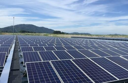 Solar power panels in Sangju, Gyeong-buk province (Yonhap)