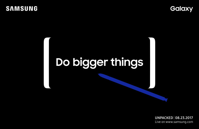 Samsung's Galaxy Note 8 launch event confirmed on August 23