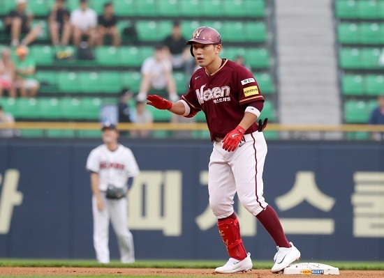 Nexen Heroes second baseman Seo Geo-chang, the only batter to ever collect 200 hits in a single KBO season. (Yonhap)