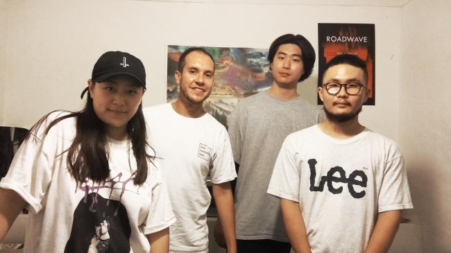From left: Hong Hyun-ji, Richard Price, Lee Sang-hyun and Kim Hyun-su, four members of the Seoul Community Radio team (Chantelle Yeung)