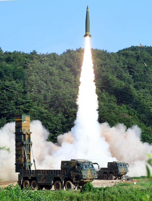 South Korea`s Hyunmoo 2A ballistic missile. Yonhap