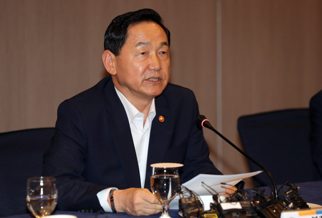 Education Minister Kim Sang-kon (Yonhap)