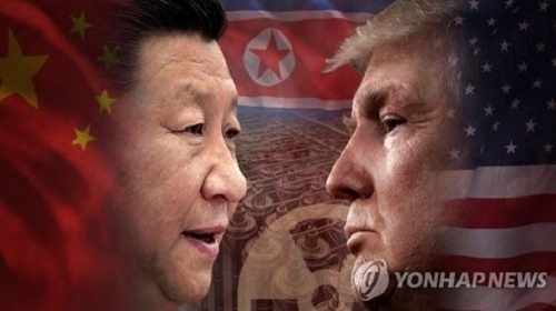 Chinese President Xi Jinping (L) and US President Donald Trump (Yonhap)