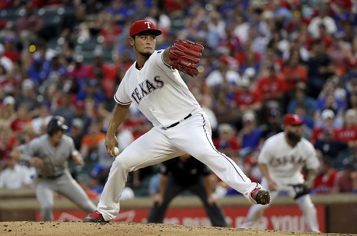 New Los Angeles Dodgers acquisition, starting pitcher Yu Darvish. (Yonhap)