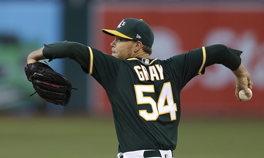New New York Yankees acquisition, starting pitcher Sonny Gray. (Yonhap)