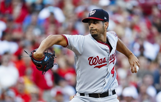 Washington Nationals starting pitcher Gio Gonzalez delivers a pitch on July 14, 2017. (Yonhap)