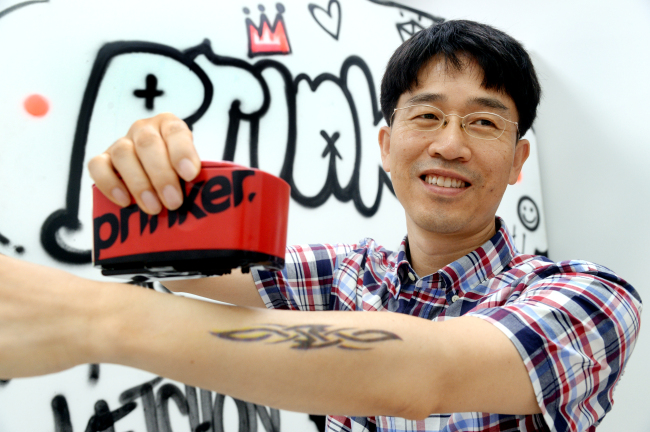 SketchOn co-founder and CEO Jimmy Lee (Park Hyun-koo/The Korea Herald)