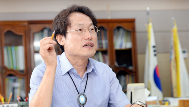 Superintendent Cho Hee-yeon of the Seoul Metropolitan Office of Education (Photographed by Park Hyun -koo/The Korea Herald)