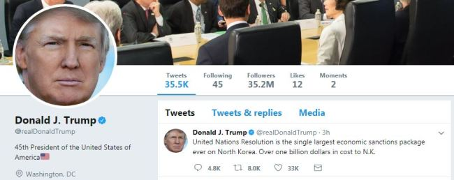 (Donald Trump's Twitter)