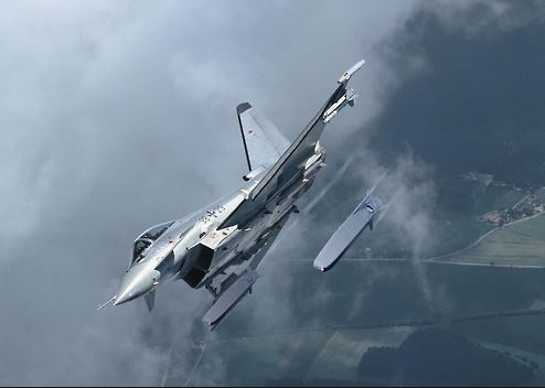 Taurus air-to-ground missiles being launched from a fighter jet (Yonhap)