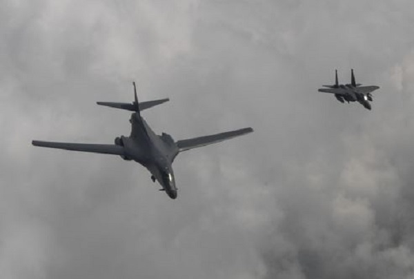 U.S.  sent two bombers to Korea this week