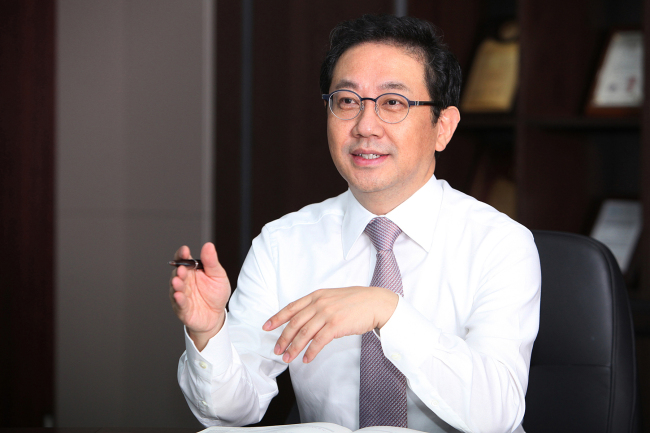 CrucialTec Chairman and CEO Charles Ahn speaks during an interview with The Korea Herald on July 31. (Crucial Tec)