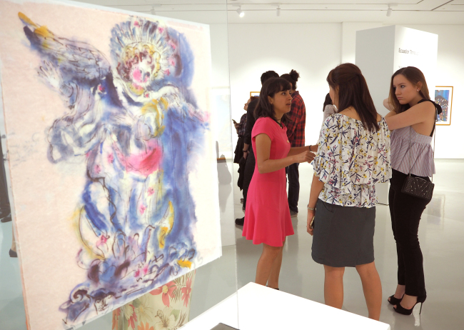 "The exhibition ""Ecuador Through My Dreams"" runs at the Superior Gallery in Seoul through Aug. 31, featuring some 50 works of Ecuadorian artist Miguel Betancourt. (Joel Lee/The Korea Herald)"