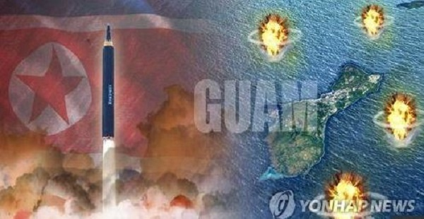 Pyongyang announced plans to launch missiles toward Guam, a US territory in the Pacific. (Yonhap)