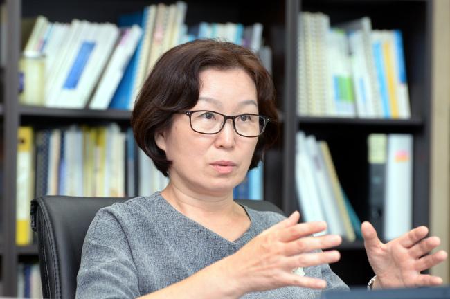 IOM Migration Research and Training Centre Director Chung Ki-seon (Park Hyun-koo/The Korea Herald)