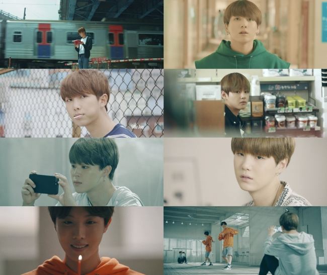 "Excerpts from BTS's highlight reel of the ""Love Yourself"" series (Big Hit Entertainment)"
