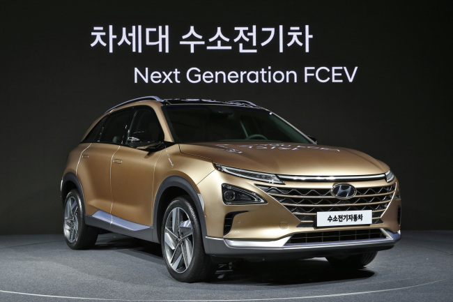 Hyundai Motor's next generation fuel cell electric vehicle slated for release next year. (Hyundai Motor Group)