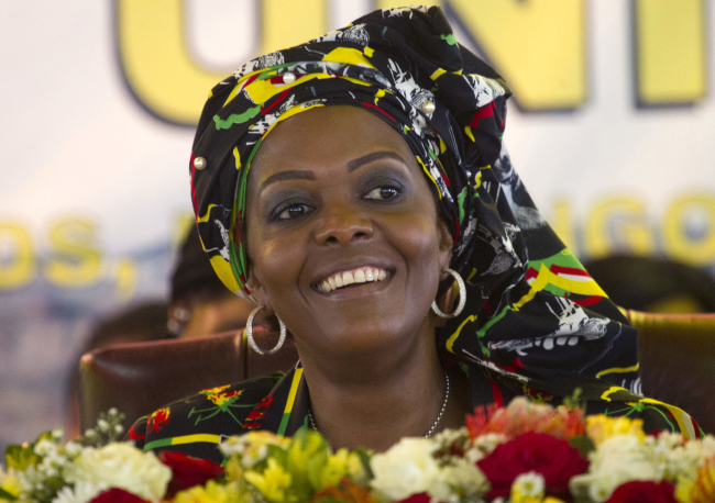 In this Dec. 16, 2016, file photo, Zimbabwean first lady Grace Mugabe attends a ruling ZANU PF Party Conference in Masvingo, Zimbabwe. (AP-Yonhap)