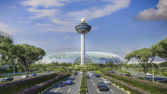 An exterior view of Jewel Changi Airport (Jewel Changi Airport Development)