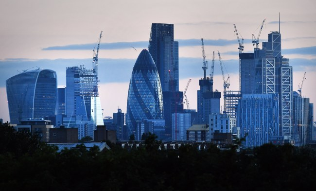 A photograph released 07 August 2017 shows the UK's financial heart, the City of London in London, Britain, 06 July 2017. (EPA/ANDY RAIN)