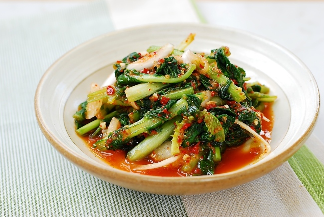 Yeolmu kimchi (Korean Bapsang)
