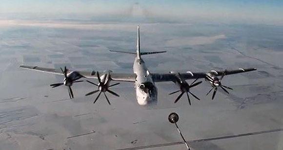 A Tu-95MS Russian strategic bomber. (Yonhap)