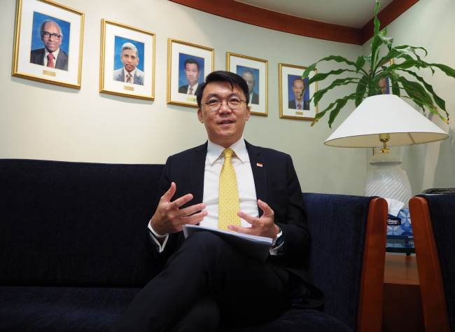 Singaporean Ambassador Yip Wei Kiat (Joel Lee/The Korea Herald)