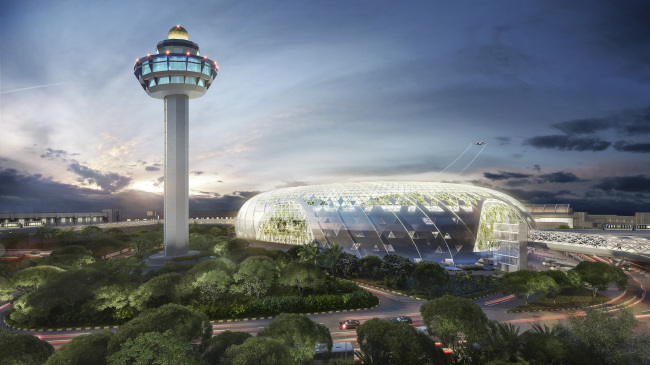 The new icon of Changi Airport (Photo credit to Jewel Changi Airport Development)