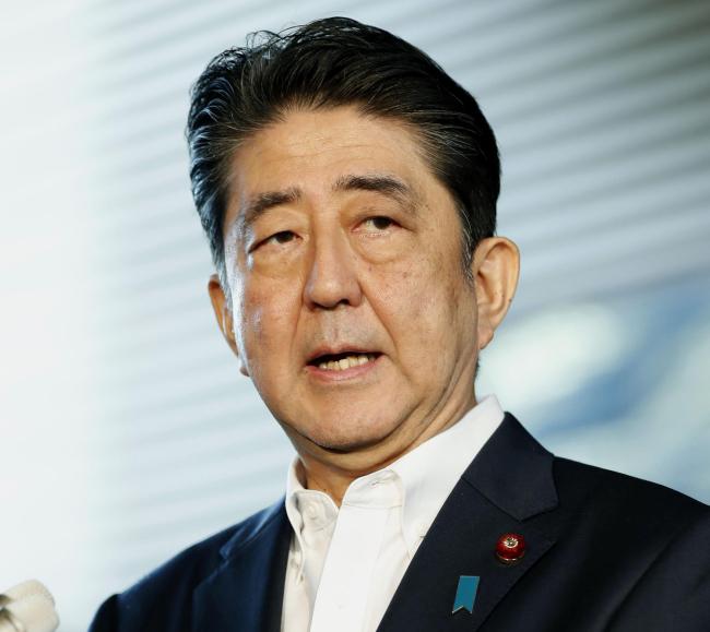 Japanese Prime Minister Shinzo Abe (AP-Yonhap)