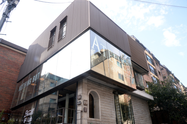 Dorrell 6z Lab opened in a renovated house in Cheongdam-dong, Seoul, on Thursday. (Photo credit: Park Hyun-koo/The Korea Herald)