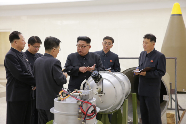 Kim Jong-un visits Nuclear Weapons Institute. (KCNA)