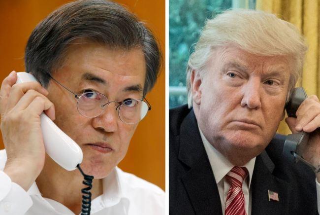 South Korean President Moon Jae-in and US President Donald Trump (Yonhap-EPA)