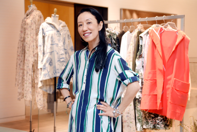 Lee Ji-min, J.Cricket founder and creative director, poses at Boon the Shop in Cheongdam-dong, Seoul, on Monday. (Park Hyun-koo/ The Korea Herald)