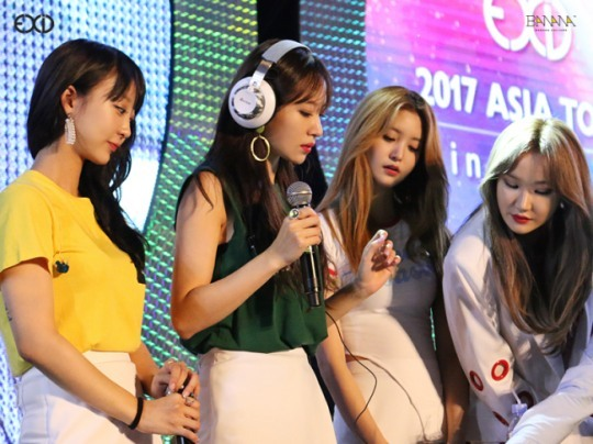 EXID at 2017 Asia Tour in Taipei on Saturday. (Banana Culture Entertainment)
