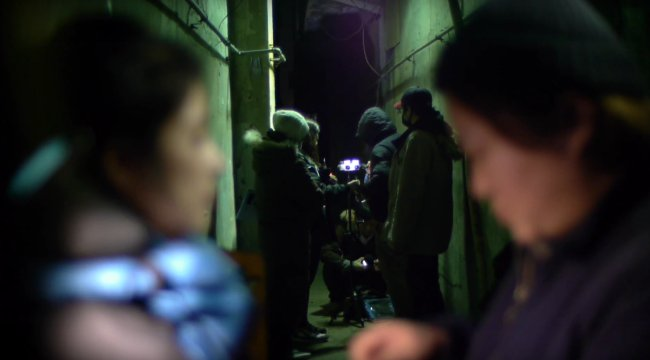 "The film set of Gina Kim's VR documentary film ""Bloodless"" (Gina Kim)"
