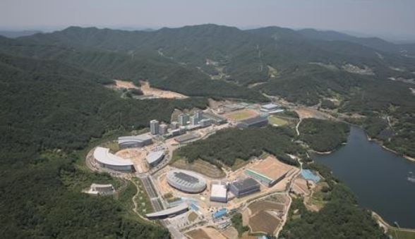 This photo provided by Jincheon County in North Chungcheong Province on Sept. 26, 2017, shows the new National Training Center for South Korea national team athletes. (Yonhap)