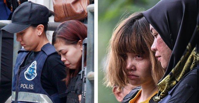 Indonesian Siti Aisyah (left) and Vietnamese Doan Thi Huong (right)