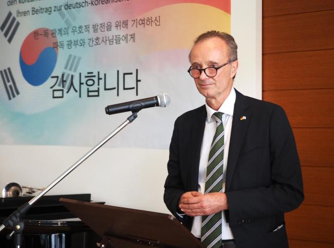 German Ambassador to Korea Stephan Auer (Joel Lee/The Korea Herald)