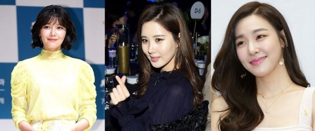 From left: Sooyoung , Seohyun and Tiffany (Herald DB)
