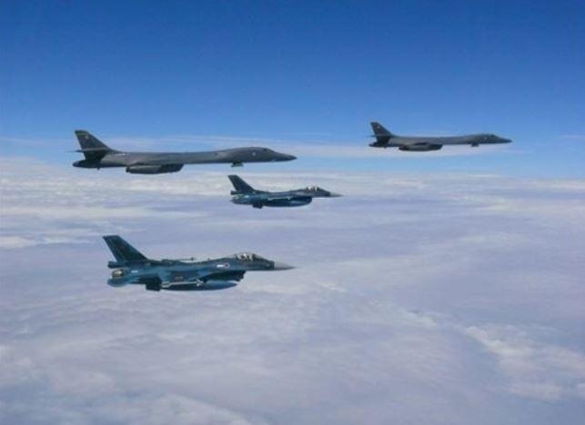 US Air Force B-1B bombers (Yonhap)