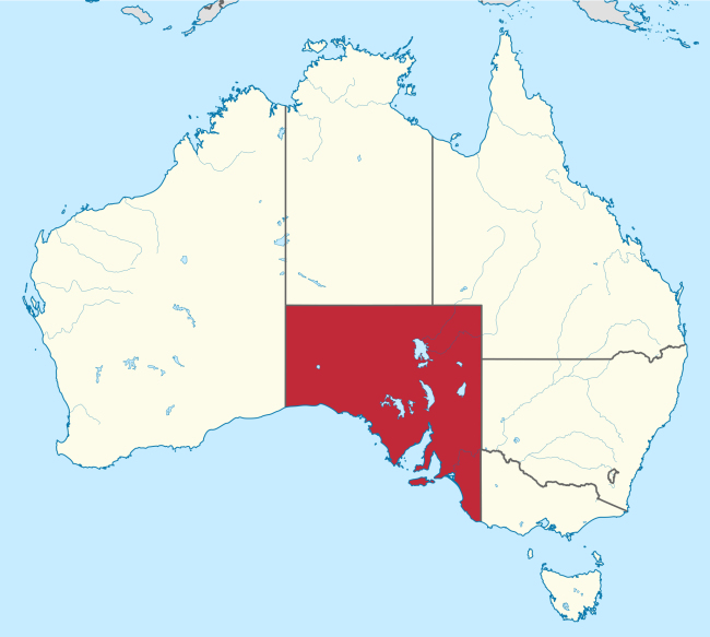 A map showing South Australia (Wikipedia)