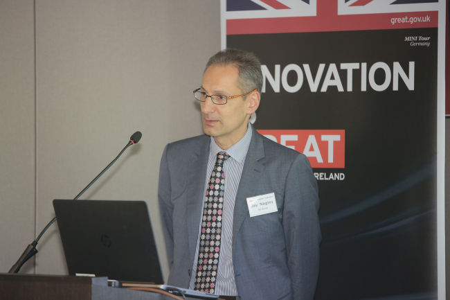 Jay Nagley, an automotive R&D specialist for Automotive Investment Organization, under Department for International Trade of UK (Department for International Trade of UK)