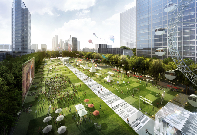An artist's rending of the mammoth underground facility to be built in Gangnam. Seoul Metropolitan Government.