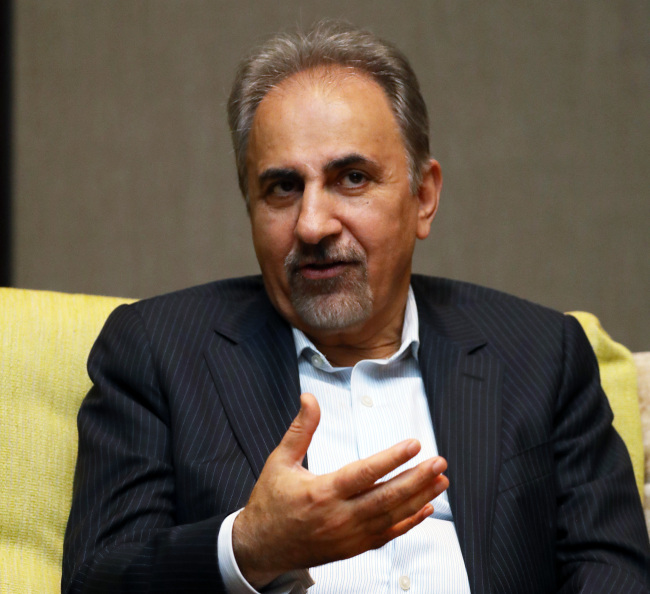 Tehran Mayor Mohammad-Ali Najafi, one of Iran's staunch advocates of global engagement and domestic reform, says the Iranian capital presents untested opportunities to Korean investors. (Yonhap)