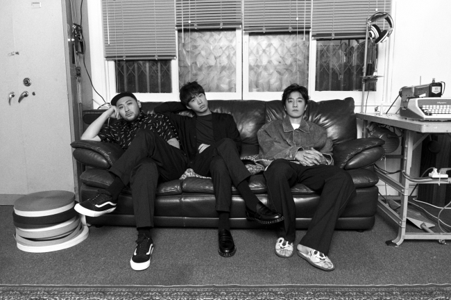 (From left) Mithra Jin, Tablo and DJ Tukutz of hip-hop trio Epik High (YG Entertainment)
