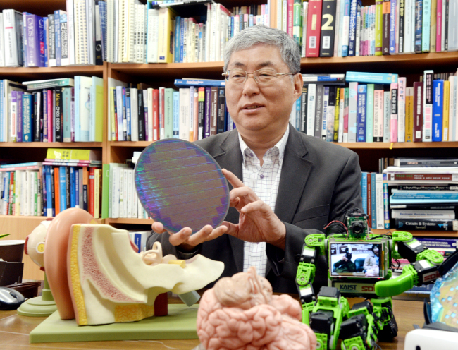 Professor Yoo Hoi-jun of the Korea Advanced Institute of Technology (Photo by Park Hyun-koo/The Korea Herald)