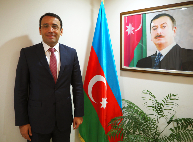 Azerbaijani Ambassador to Korea Ramzi Teymurov (Joel Lee/The Korea Herald)