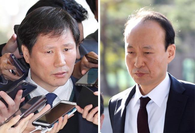 Ahn Bong-geun (left), Lee Jae-man