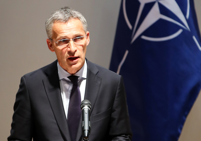 NATO Secretary-General Jens Stoltenberg speaks at a press conference at the Asan Institute for Policy Studies in Seoul on Thursday. (Yonhap)
